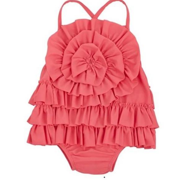 57ec9b4f44e54 Mud Pie Swim | Pink Ruffle Suit | Poshmark